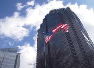 American Flag Flying in Atlanta