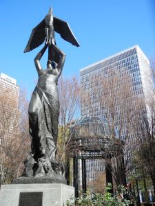 Statue of Phoenix Rising Above the Ashes, in Downtown Atlanta.