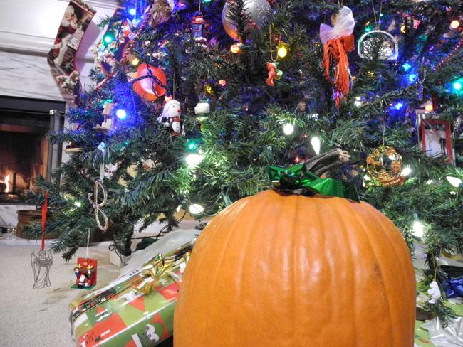 Christmas Tree and Pumpkin