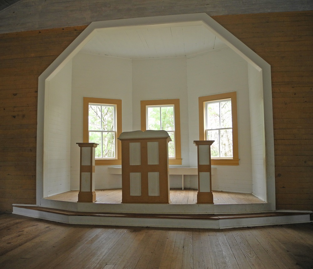 Pulpit at Cades Cove Missionary Baptist Church